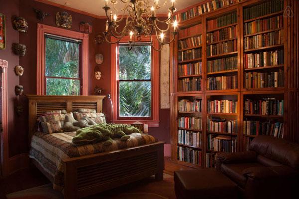 bedroom library - دکوراسیون اتاق خواب ، طراحی اتاق خواب