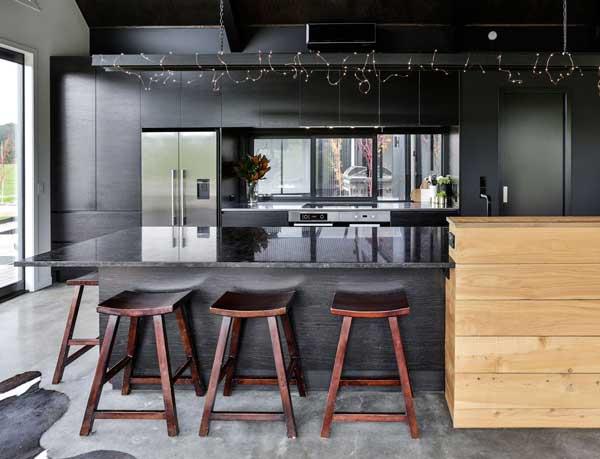 black kitchen - دکوراسیون آشپزخانه