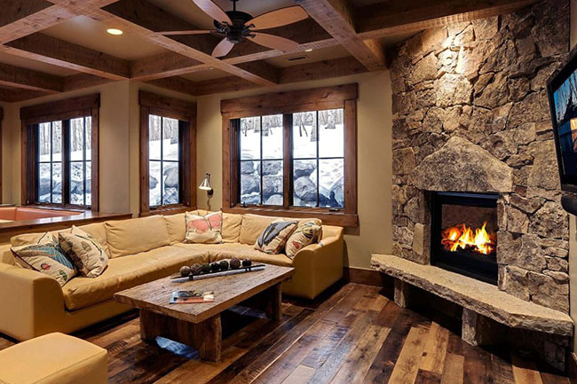 classic fire place - طراحی شومینه