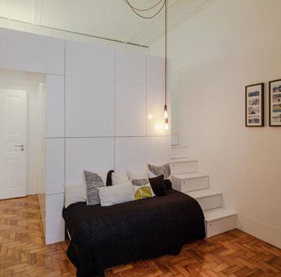 compact bedroom - مدیریت فضاهای کوچک