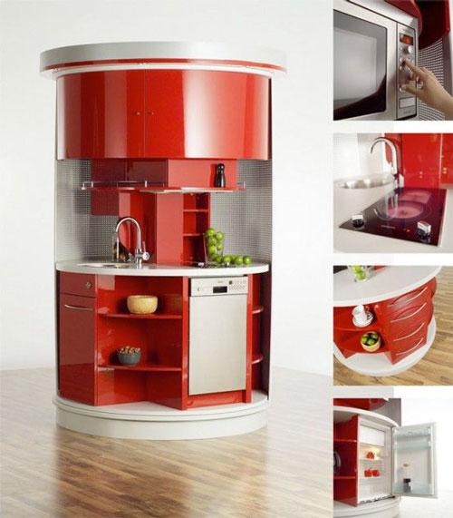compact kitchen - ایده مدیریت فضاهای کوچک