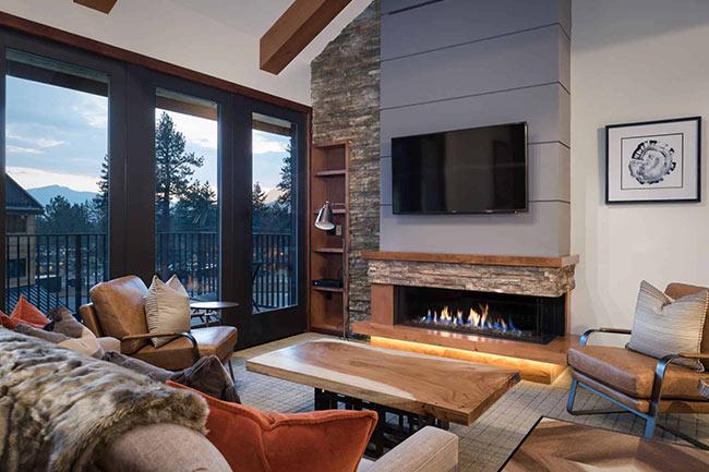 gas fireplace design - طراحی شومینه