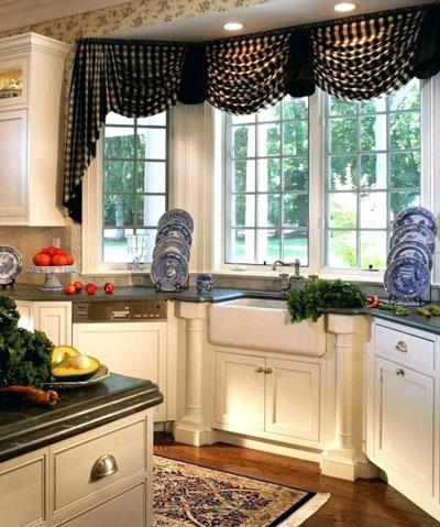 kitchen curtain - دکوراسیون آشپزخانه