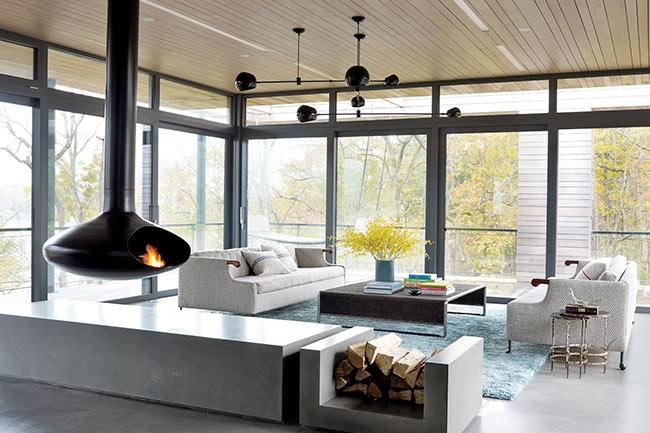 modern fireplace - طراحی شومینه