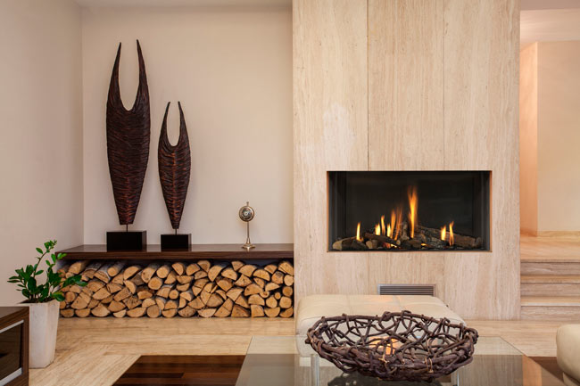 wood modern fireplace design - طراحی شومینه