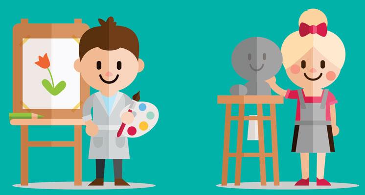 khalaghiat koodak - اهمیت یادگیری هنر در رشد کودک