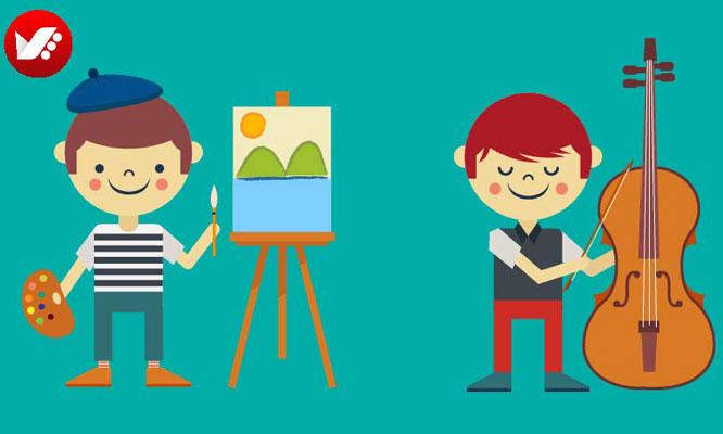 kids art 1 - رشد کودک و تحصیل هنر