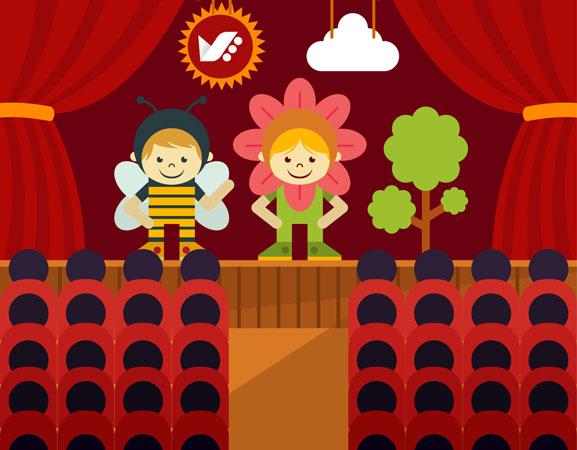 kids theater - رشد کودک و تحصیل هنر