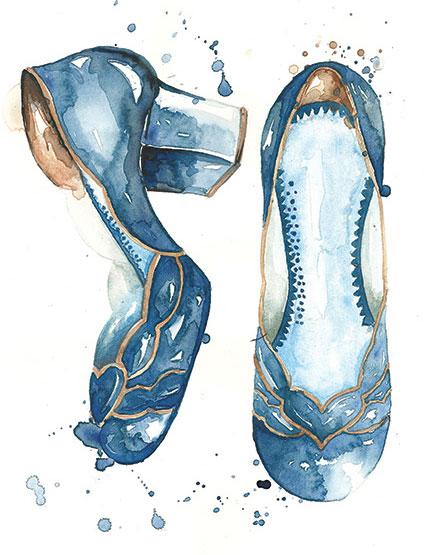 shoes illustration - آنچه دربارهی تصویر سازی مد باید بدانید