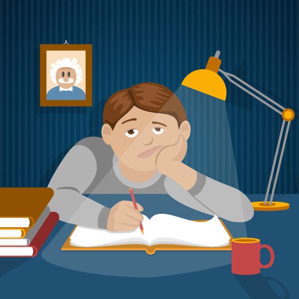 bored student - چرا یادگیری زبان انگلیسی در مدرسه عملی نیست ؟