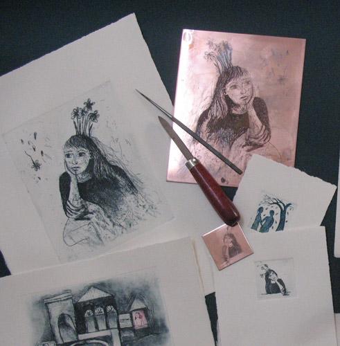 etch prints - انواع تصویر سازی و تکنیک های آن