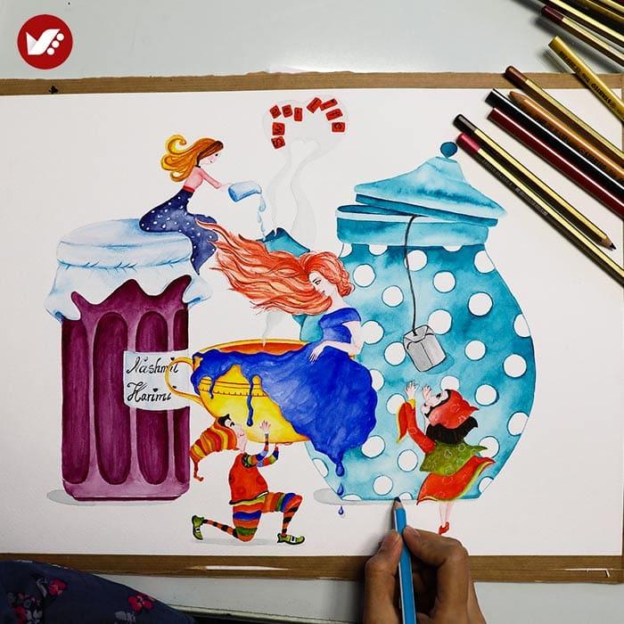 illustration tasvirsazi pouyaandish 1 - انواع تصویر سازی و تکنیک های آن