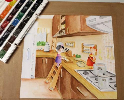 illustration tasvirsazi pouyaandish 13 495x400 - انواع تصویر سازی و تکنیک های آن
