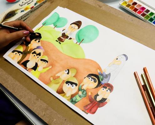 illustration tasvirsazi pouyaandish 3 495x400 - انواع تصویر سازی و تکنیک های آن
