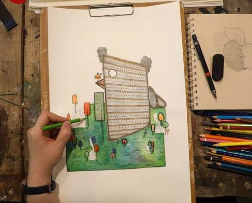 illustration tasvirsazi pouyaandish 5 495x400 - انواع تصویر سازی و تکنیک های آن