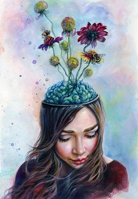 pollination by tanyashatseva - انواع تصویر سازی و تکنیک های آن