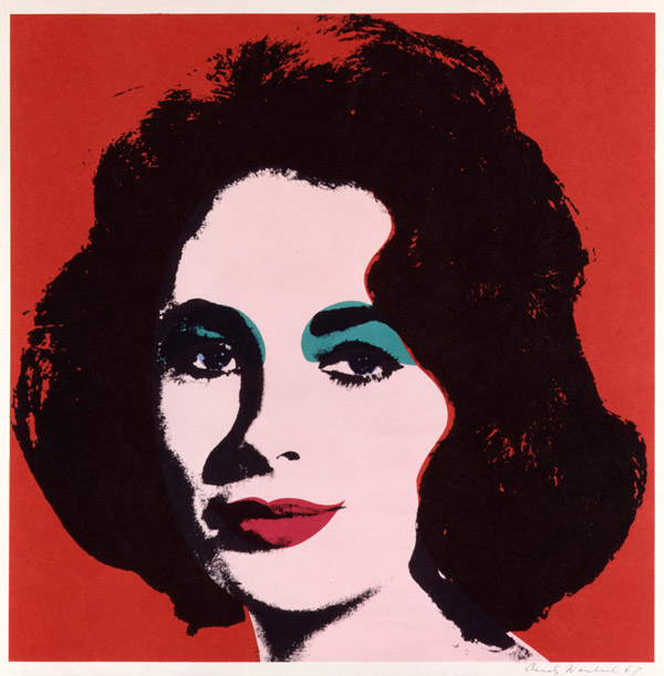 Dame Elizabeth Taylor by Andy Warhol - تصویر سازی پرتره