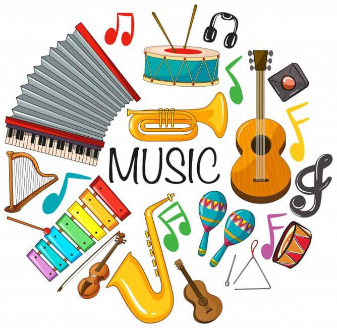 music instrument - 6 مزیت آموزش موسیقی