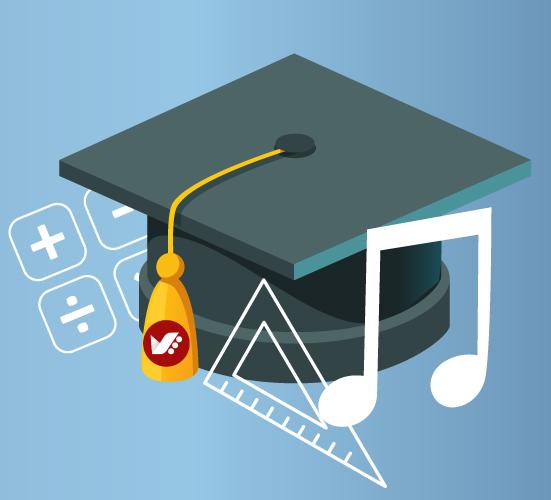 music math - 6 مزیت آموزش موسیقی
