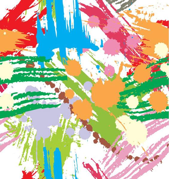 colourful paint blots - تفسیر نقاشی کودکان