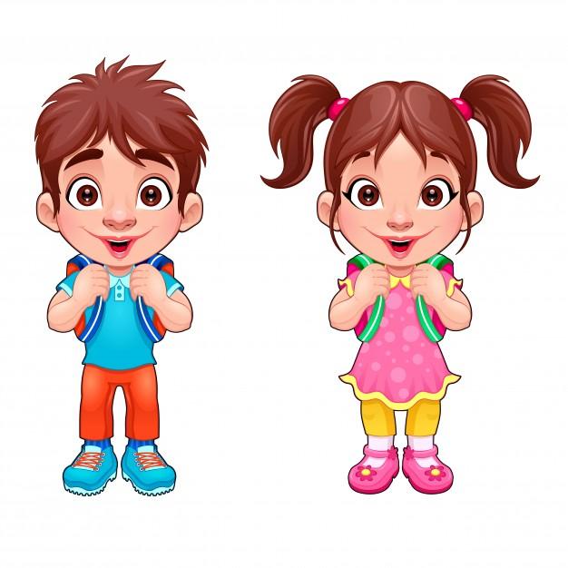 kids girl boy - تفسیر نقاشی کودکان