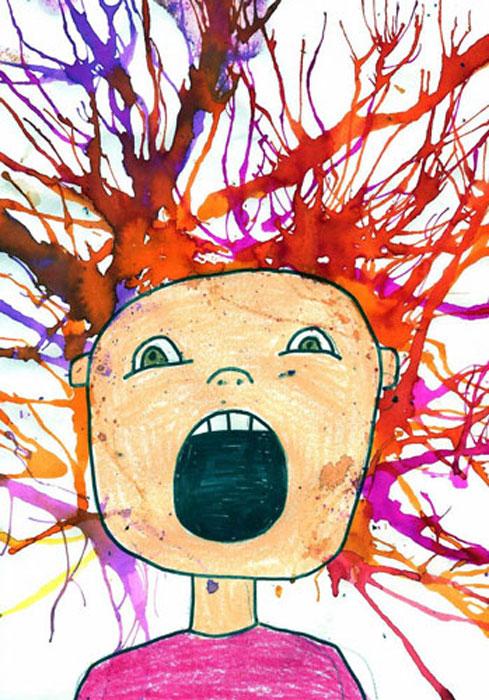 kids paint 1 - تفسیر نقاشی کودکان
