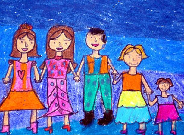 parents paint - تفسیر نقاشی کودکان