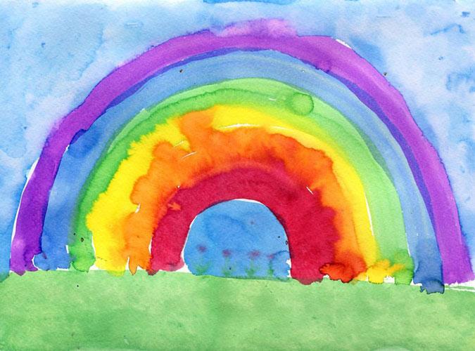 rainbow paint - تفسیر نقاشی کودکان