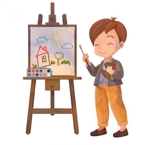 watercolor artist - هنر خلاق جنبههای مختلف رشد کودک را افزایش میدهد