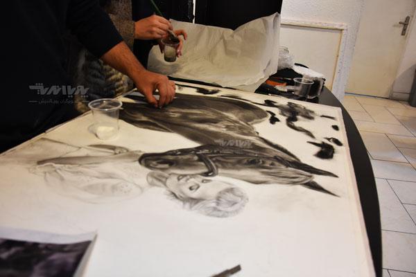 طراحی نقاشی سیاه قلم