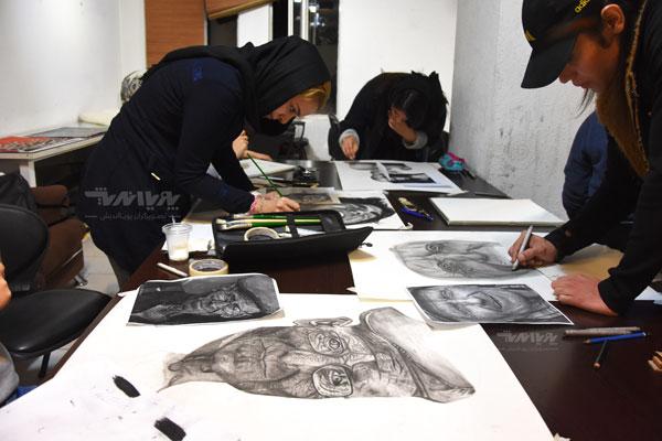 دوره نقاشی سیاه قلم