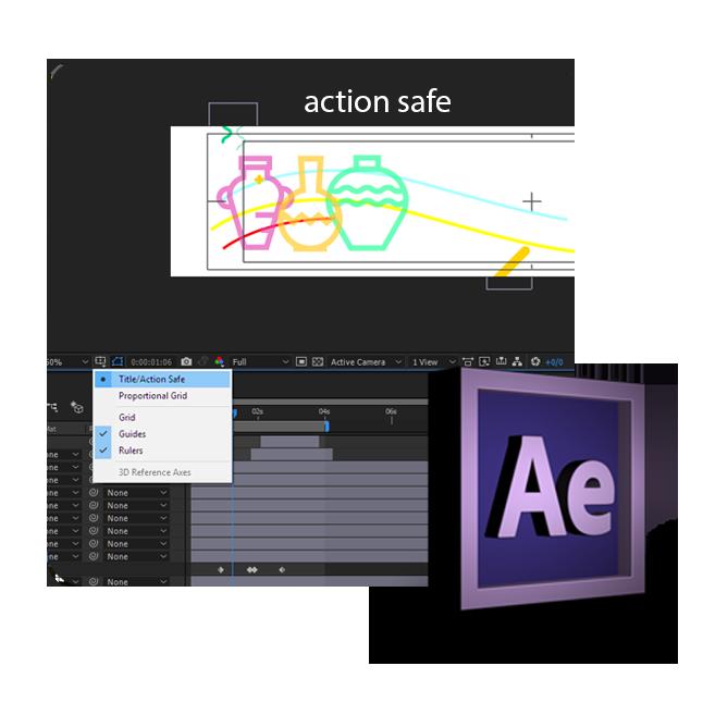 action safe - اصطلاحات نرم افزار موشن گرافیک