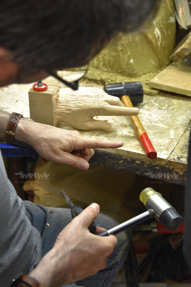 peykartarashi1 - آموزش پیکر تراشی با چوب ، مجسمه سازی با چوب