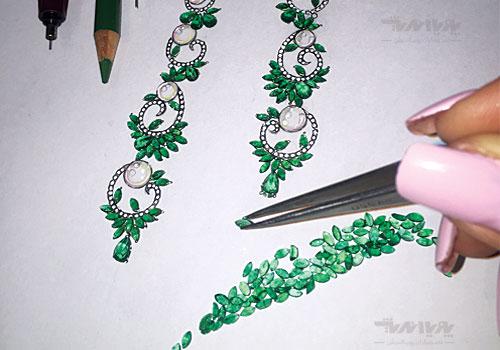 طراحی جواهر با دست