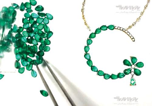 تصویر نمونه کار طراحی جواهر