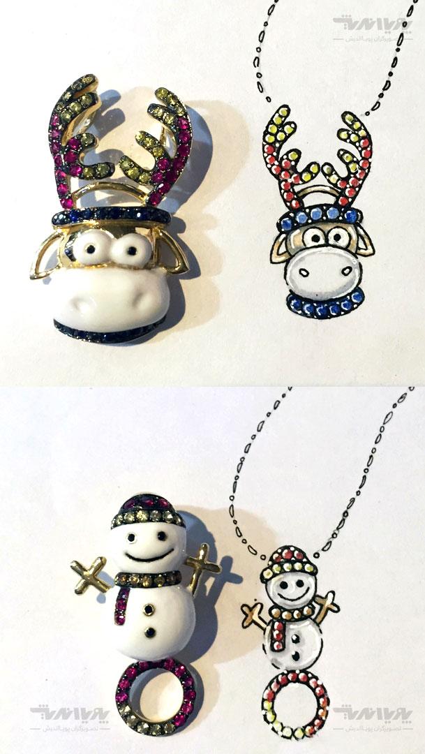طراحی جواهر خلاقانه