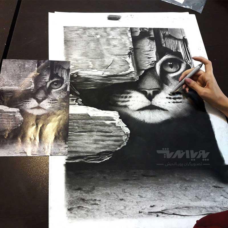 siahghalam 222 - نقاشی سیاه قلم