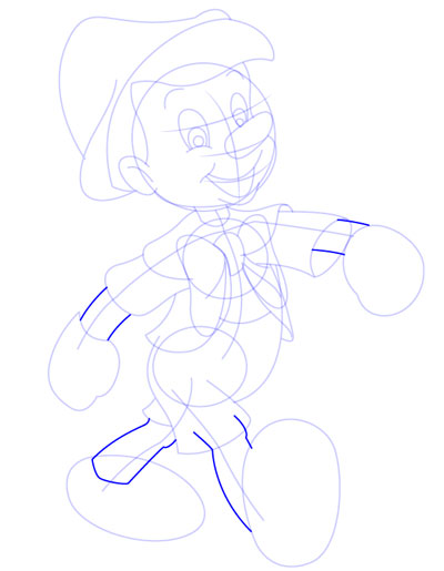 tarahi character step10 pinocchio - آموزش طراحی کاراکتر