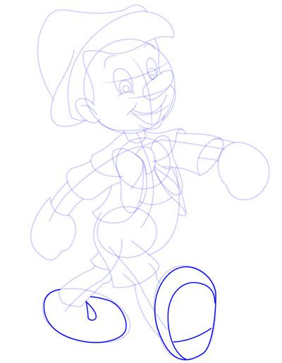 tarahi character step11 pinocchio - آموزش طراحی کاراکتر