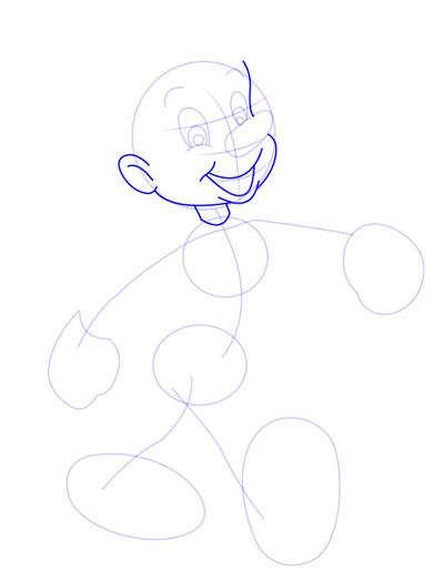 tarahi character step4 pinocchio - آموزش طراحی کاراکتر