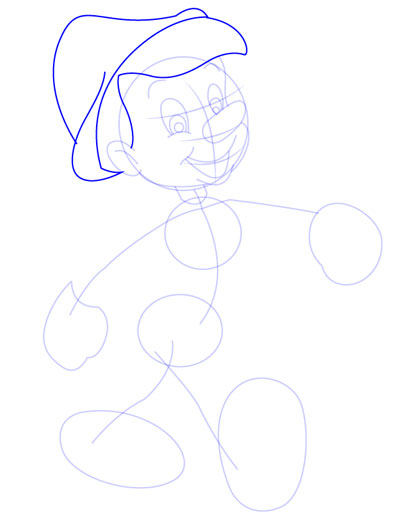 tarahi character step5 pinocchio - آموزش طراحی کاراکتر