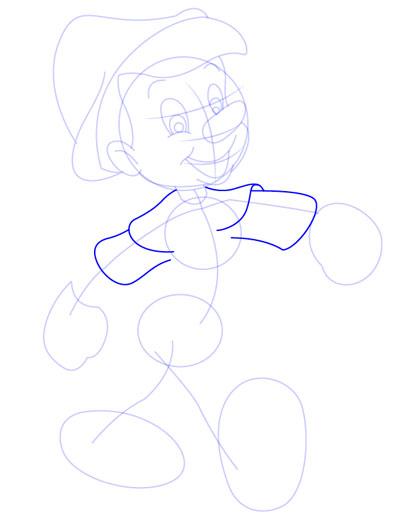 tarahi character step6 pinocchio - آموزش طراحی کاراکتر