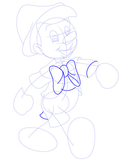 tarahi character step9 pinocchio - آموزش طراحی کاراکتر