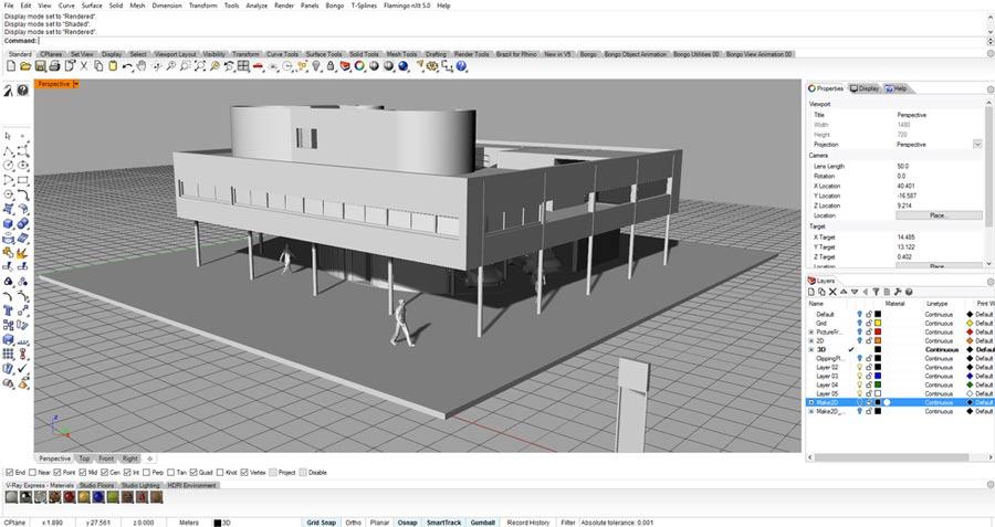 راینو 6 در معماری