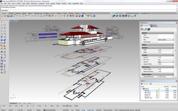 Robie 3D and Plans R5 - ویژگی های راینو 6