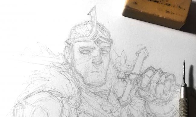 شخصیت سازی با استفاده از مداد و جوهر