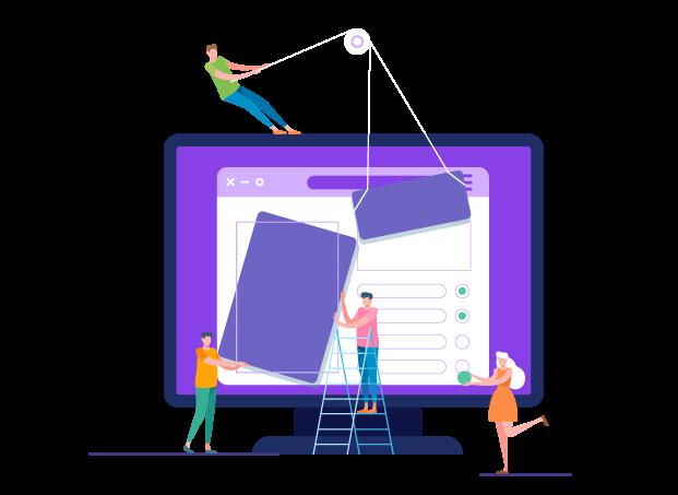 designing website - طراحی گرافیک وب سایت به کمک تصویرسازی انتزاعی