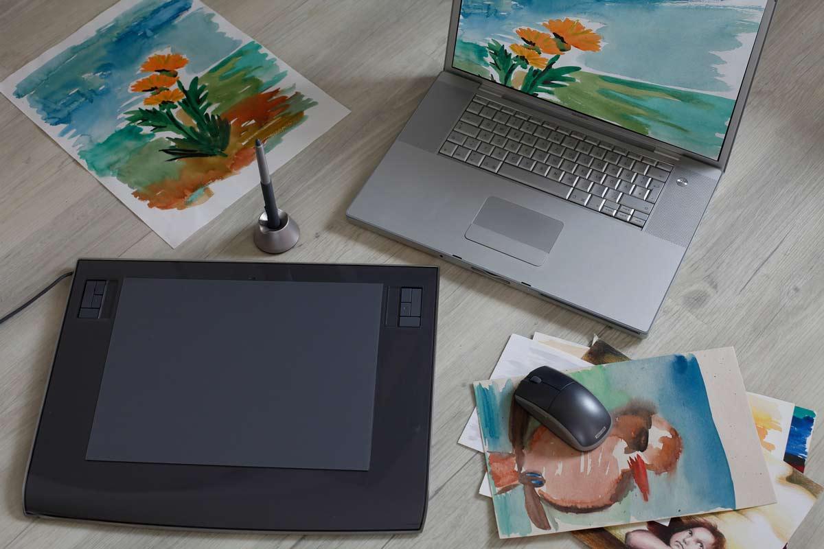 graphics tablet - طراحی با قلم نوری در کورل