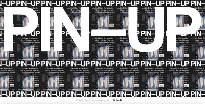 pin up magazine - طراحی گرافیک وب سایت به کمک تصویرسازی انتزاعی
