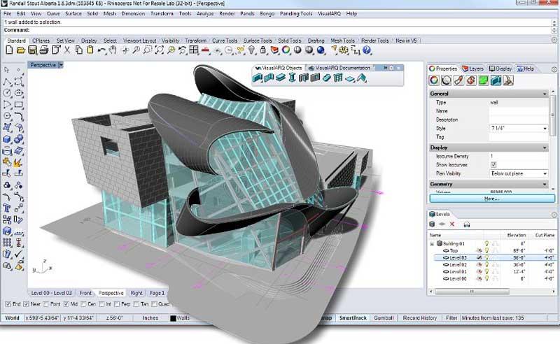 آموزش نرم افزار راینو معماری